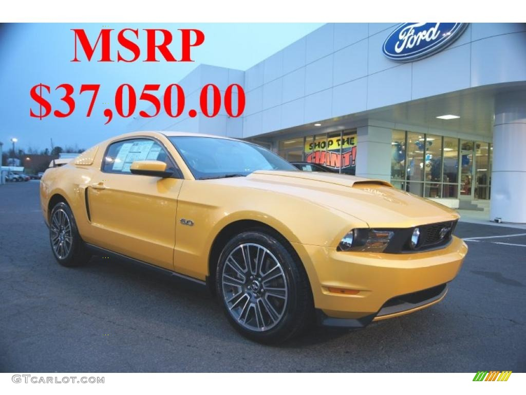 2011 Mustang GT Premium Coupe - Yellow Blaze Metallic Tri-coat / Charcoal Black/Cashmere photo #1
