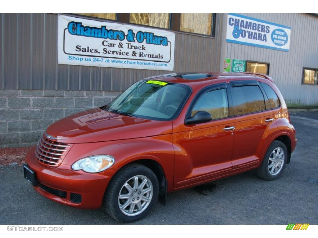 2007 PT Cruiser Touring - Tangerine Pearl / Pastel Pebble Beige photo #1