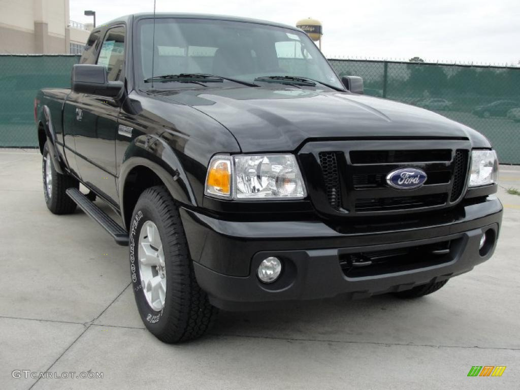 2011 black ford ranger sport supercab 4x4 42440246 photo 6 car color galleries. Black Bedroom Furniture Sets. Home Design Ideas