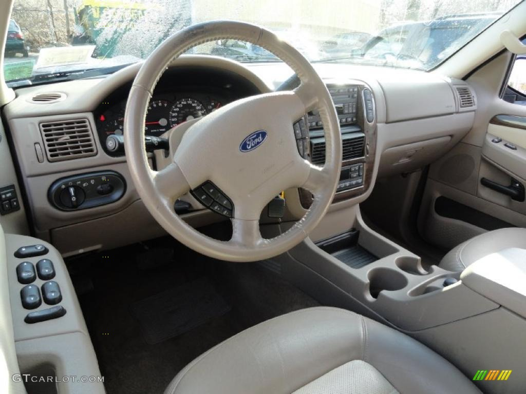 medium parchment interior 2004 ford explorer eddie bauer 4x4 photo 42503803