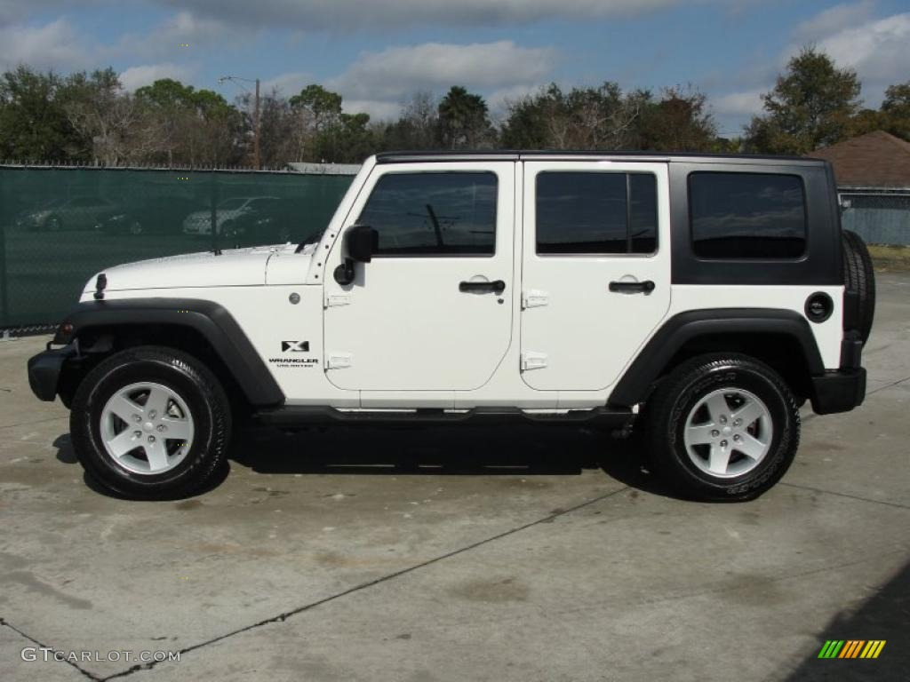 stone white 2007 jeep wrangler unlimited x 4x4 exterior photo 42505827. Black Bedroom Furniture Sets. Home Design Ideas