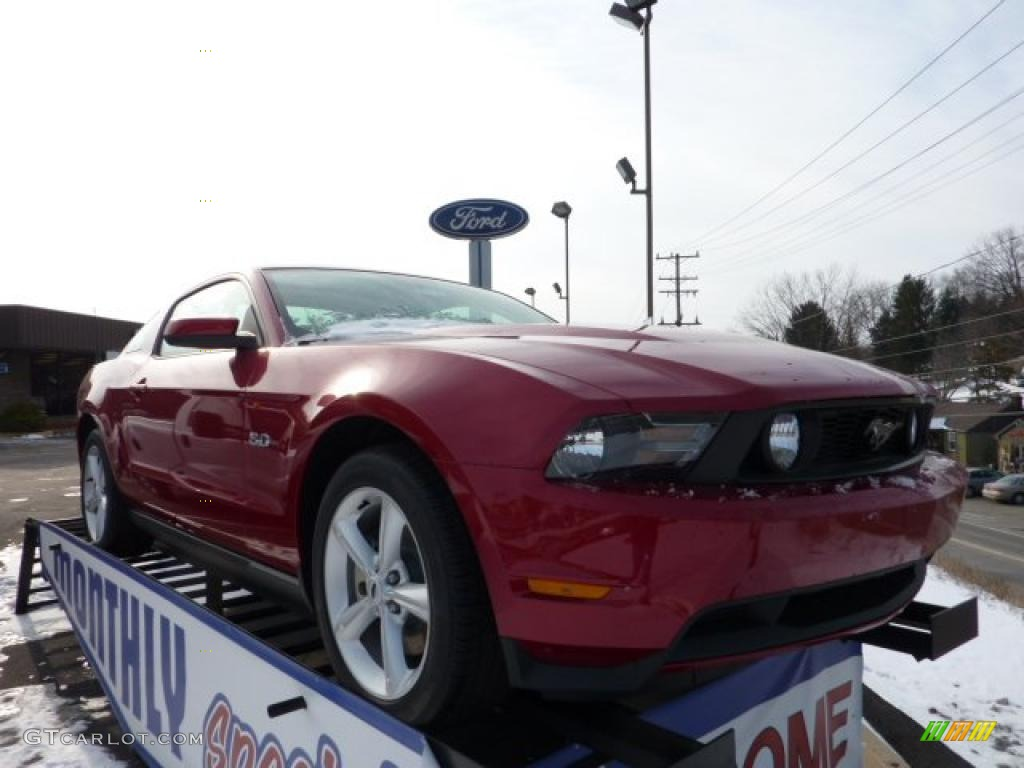 2011 Mustang GT Coupe - Red Candy Metallic / Stone photo #1