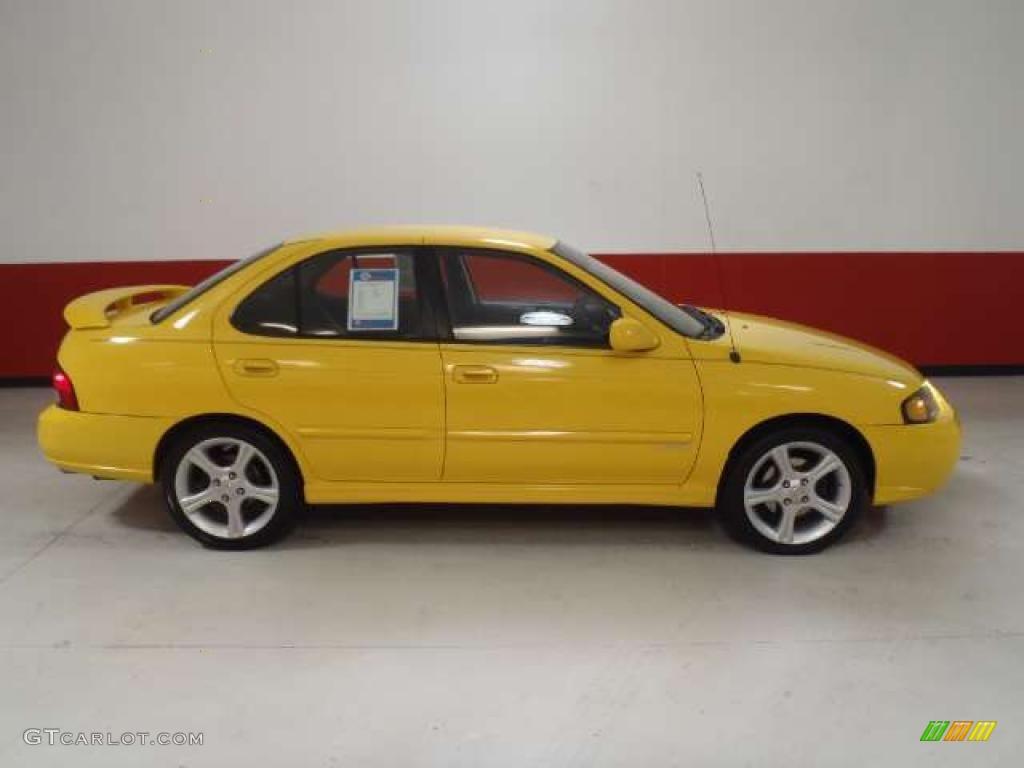 Sunburst Yellow 2003 Nissan Sentra Se R Spec V Exterior