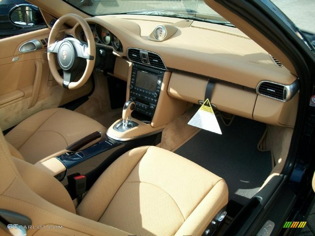 Sand Beige Interior 2011 Porsche 911 Carrera 4S Cabriolet Photo #42524113