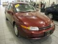 2000 Dark Red Saturn L Series LS1 Sedan  photo #1
