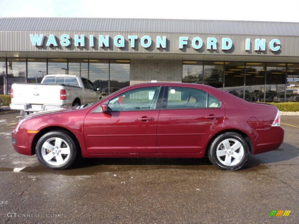 2007 merlot metallic ford fusion se v6 awd 42596762. Black Bedroom Furniture Sets. Home Design Ideas