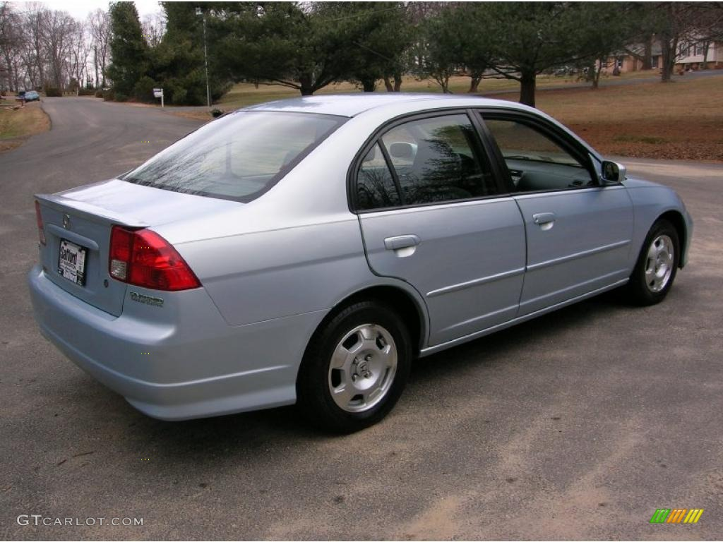 Opal Silver Blue Metallic 2005 Honda Civic Hybrid Sedan Exterior Photo  #42607340