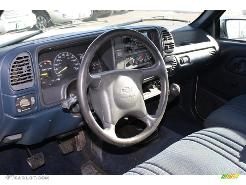 1995 Chevrolet C K 2500 C2500 Cheyenne Extended Cab Blue Dashboard Photo 42612932