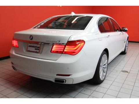 Alpine White BMW 7 Series in 2011. Alpine White
