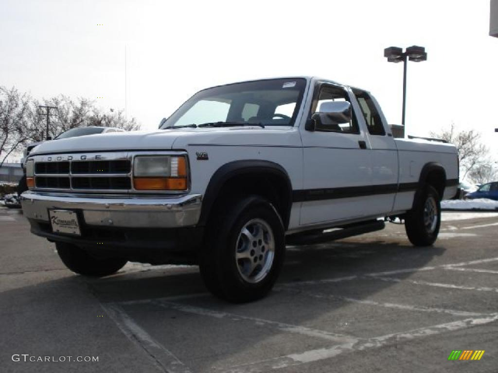 1996 Stone White Dodge Dakota Sport Extended Cab 4x4 #42596993 Photo #7 : GTCarLot.com - Car ...