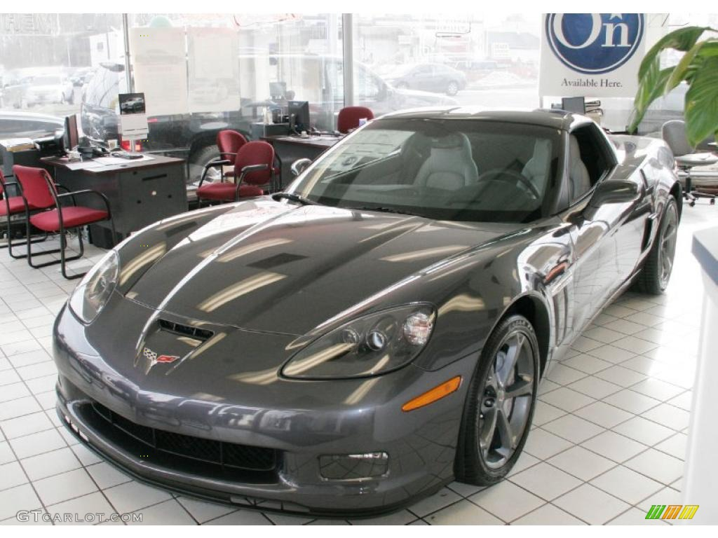 ... Cyber Gray Metallic Chevrolet Corvette Grand Sport Coupe #42597349