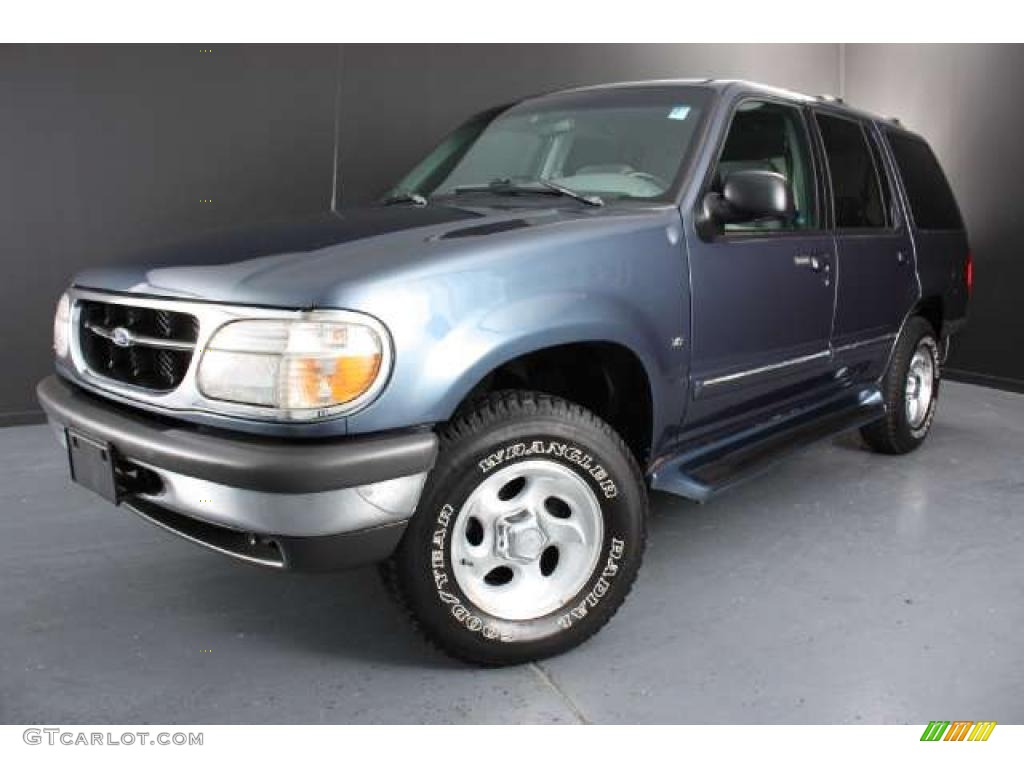 Medium wedgewood blue metallic 1998 ford explorer xlt 4x4 - Ford explorer exterior dimensions ...