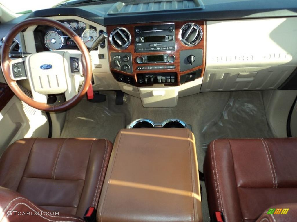 2008 Ford F350 Super Duty King Ranch Crew Cab 4x4 Chaparral Brown Dashboard Photo 42694203