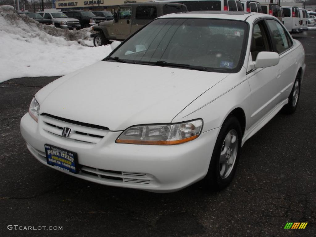 2001 Taffeta White Honda Accord Ex V6 Sedan 42681583