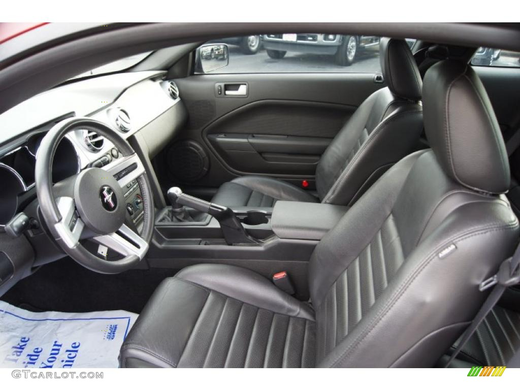 Dark Charcoal Interior 2008 Ford Mustang Gt Premium Coupe Photo 42708028