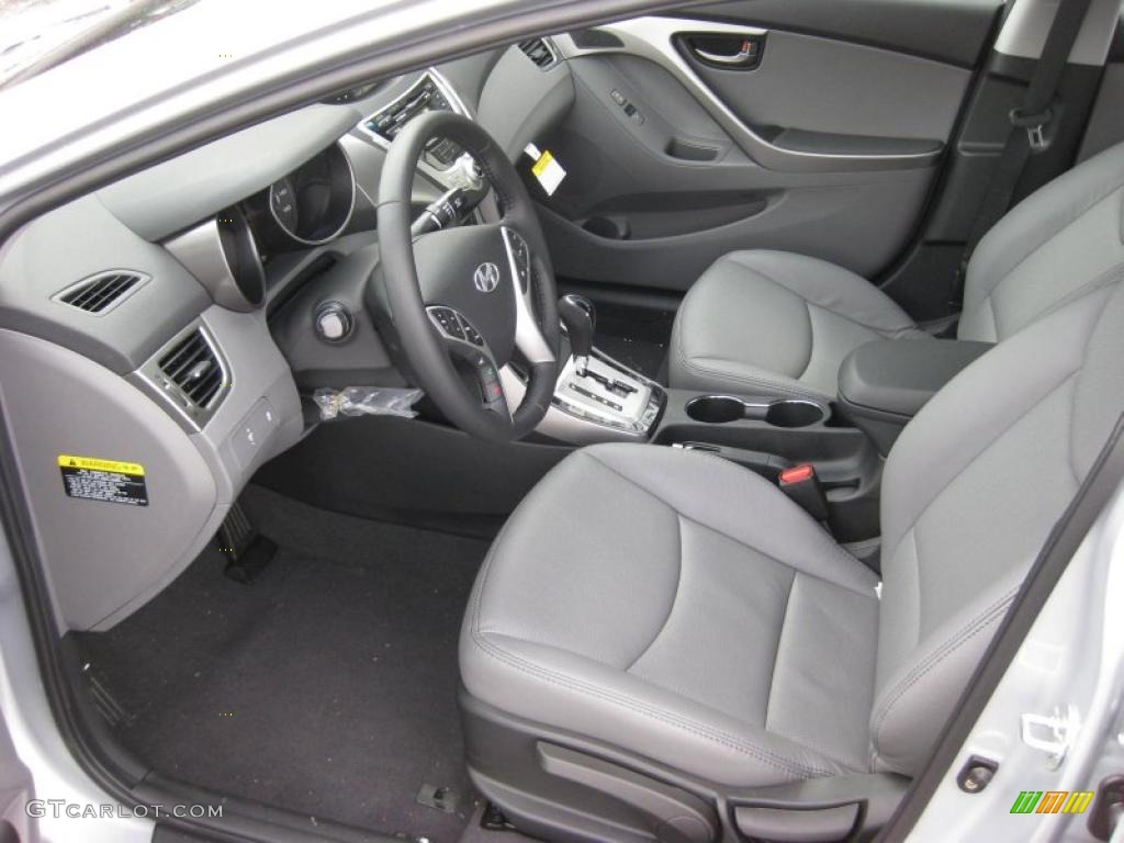 Gray Interior 2011 Hyundai Elantra Limited Photo 42743816