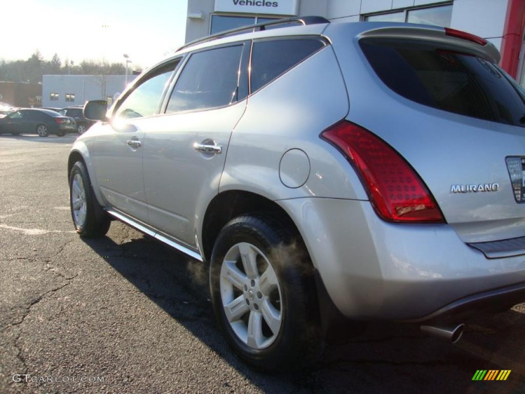 2007 Murano SL AWD - Brilliant Silver Metallic / Charcoal photo #9