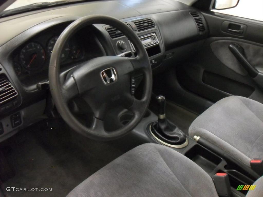 Gray Interior 2001 Honda Civic Lx Sedan Photo 42763888 Gtcarlot Com