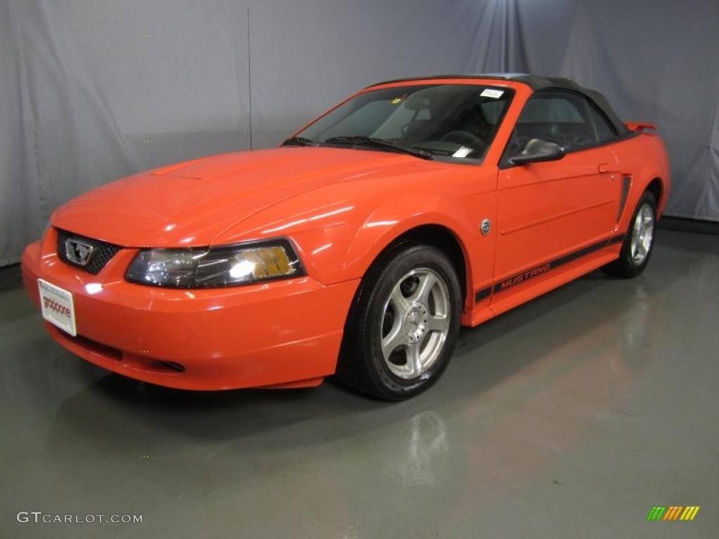 2004 Competition Orange Ford Mustang V6 Convertible