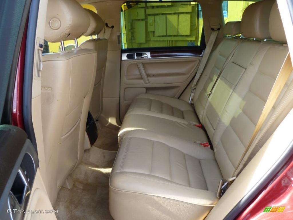 Pure Beige Interior 2004 Volkswagen Touareg V8 Photo 42773553