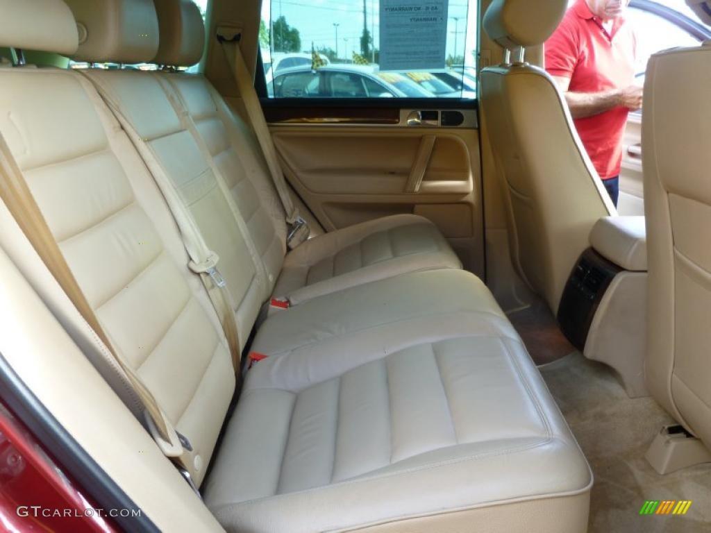 Pure Beige Interior 2004 Volkswagen Touareg V8 Photo 42773585
