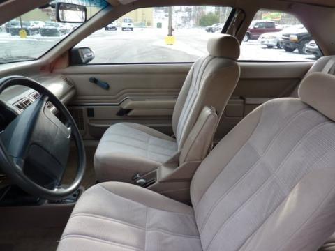 Ford Tempo Interior. 1994 Ford Tempo GL Coupe