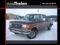 Dark Chestnut Brown 1989 Ford F150 Extended Cab