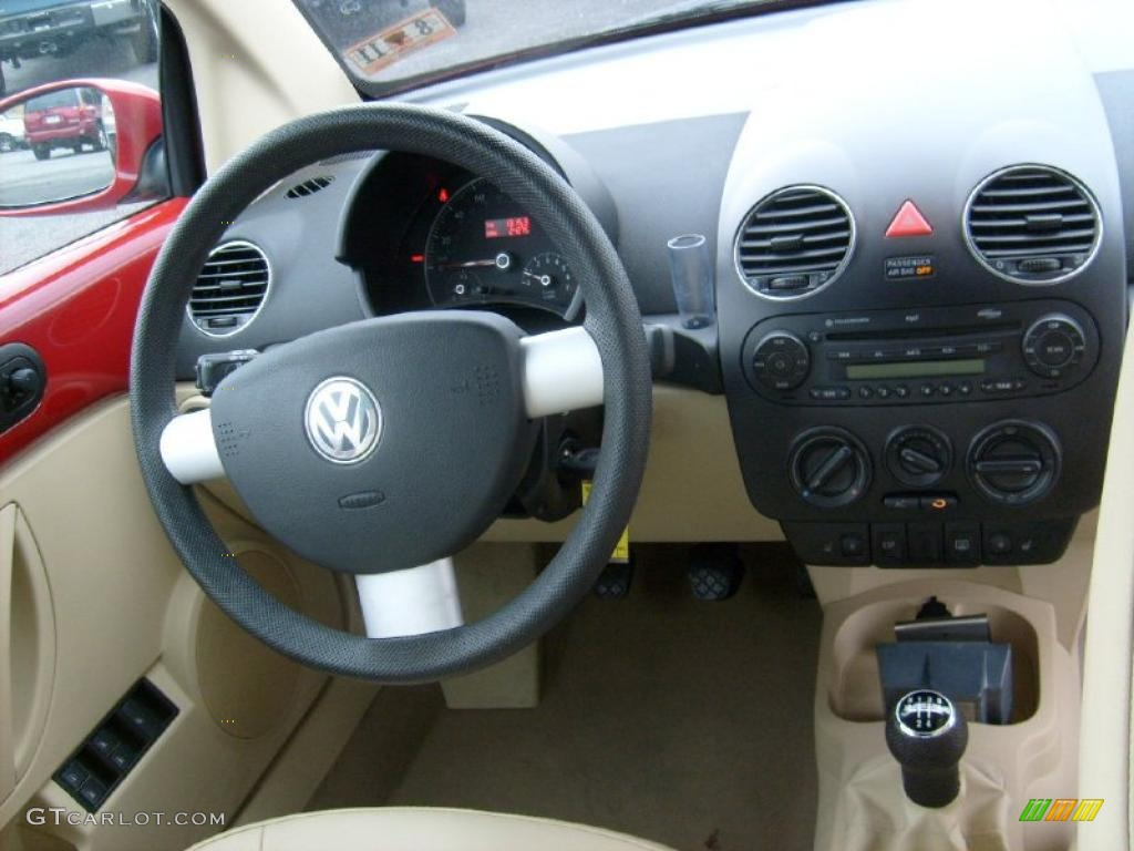 Cream Interior 2007 Volkswagen New Beetle 2 5 Convertible Photo 42801405
