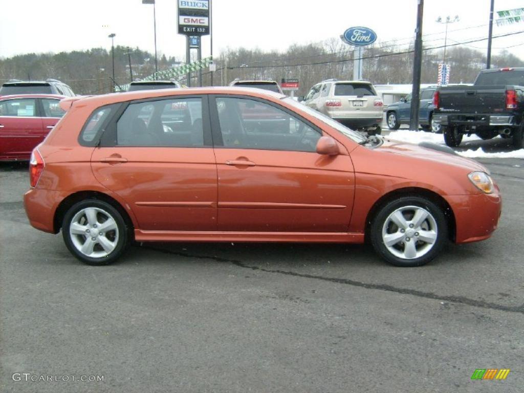 electric orange 2007 kia spectra spectra5 sx wagon. Black Bedroom Furniture Sets. Home Design Ideas