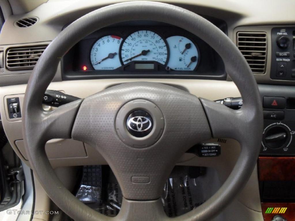 2004 Toyota Corolla Le Light Gray Steering Wheel Photo 42816630