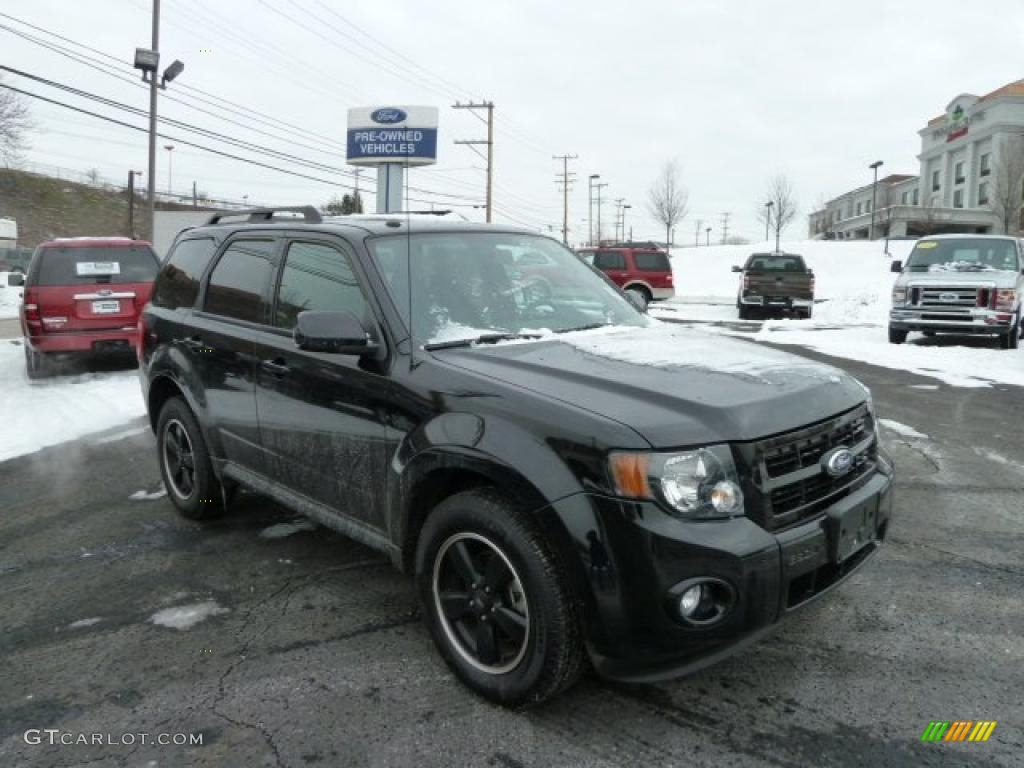 2010 escape xlt v6 sport package 4wd black charcoal black photo 1