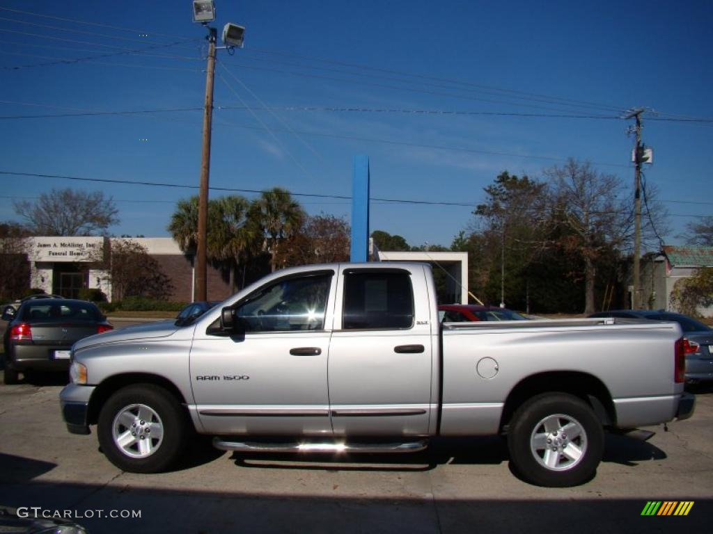 2002 Ram 1500 ST Quad Cab - Bright Silver Metallic / Dark Slate Gray photo #5