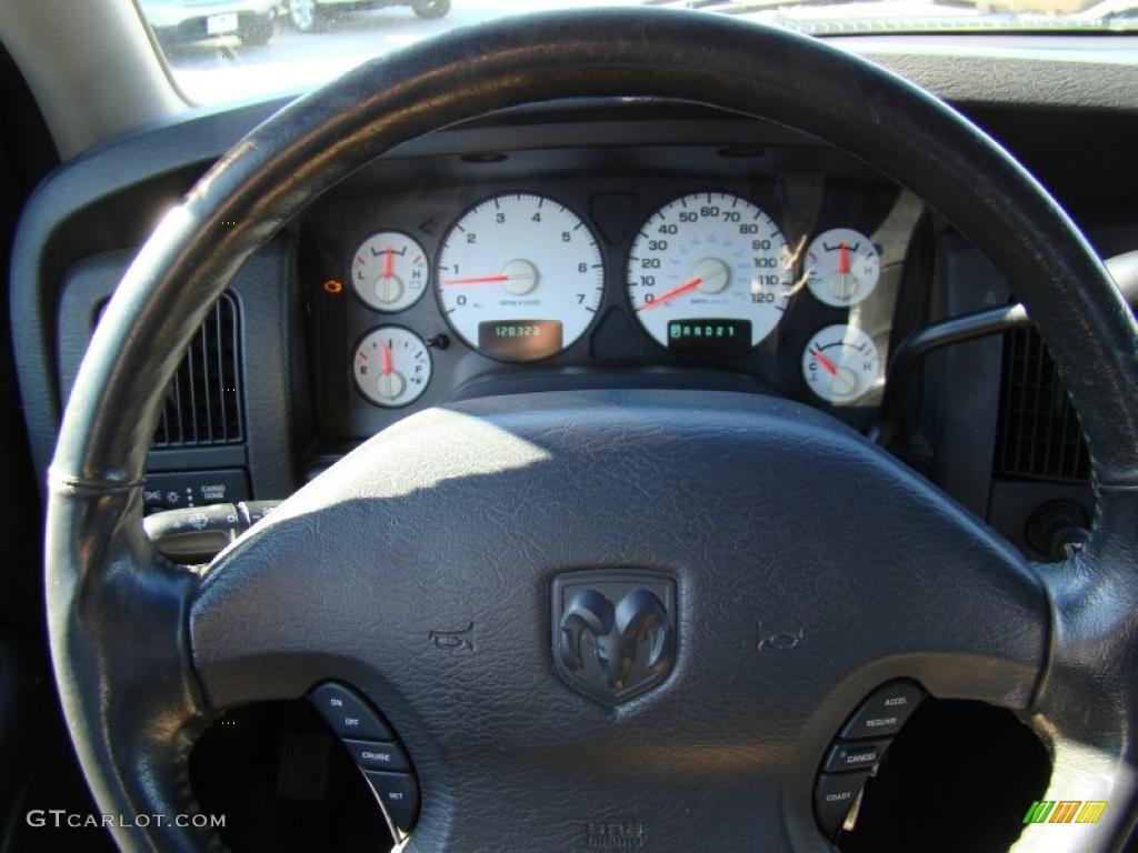 2002 Ram 1500 ST Quad Cab - Bright Silver Metallic / Dark Slate Gray photo #21
