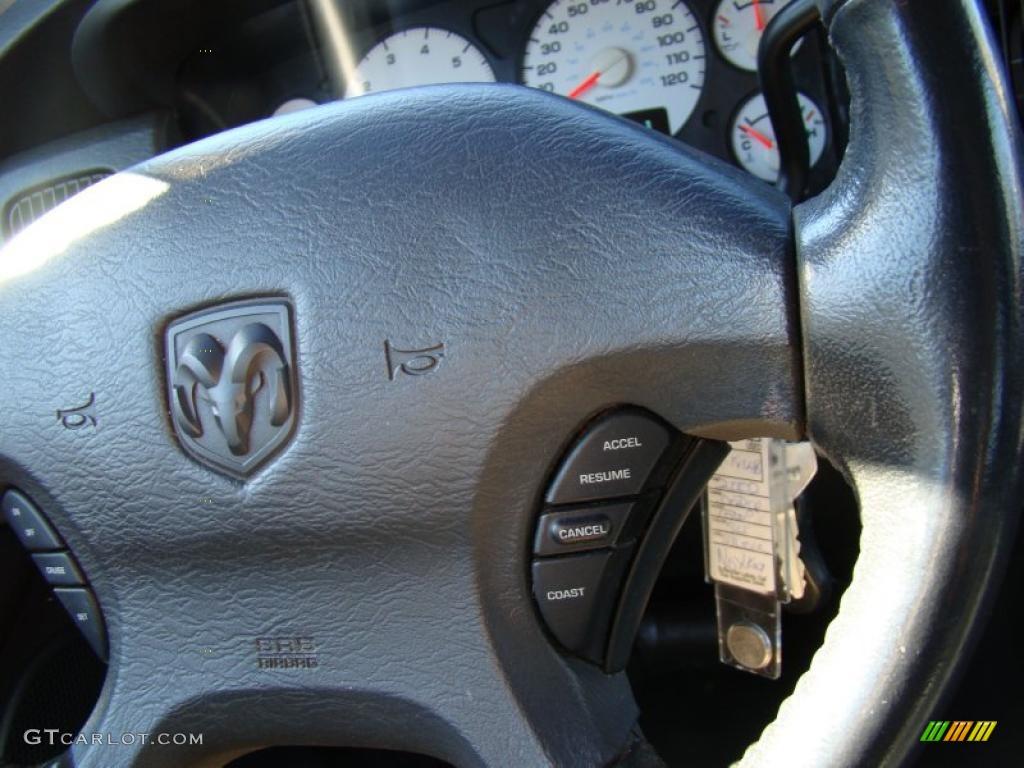 2002 Ram 1500 ST Quad Cab - Bright Silver Metallic / Dark Slate Gray photo #23