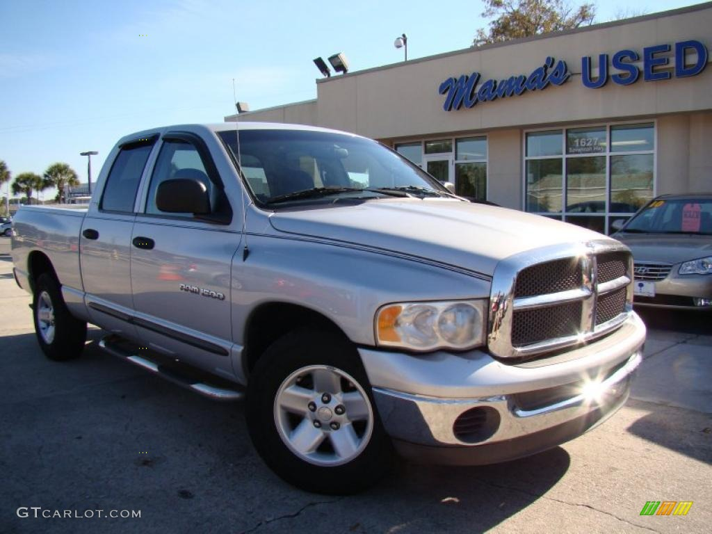 2002 Ram 1500 ST Quad Cab - Bright Silver Metallic / Dark Slate Gray photo #29