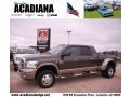 2008 Dark Khaki Metallic Dodge Ram 3500 Laramie Resistol Mega Cab 4x4 Dually  photo #1