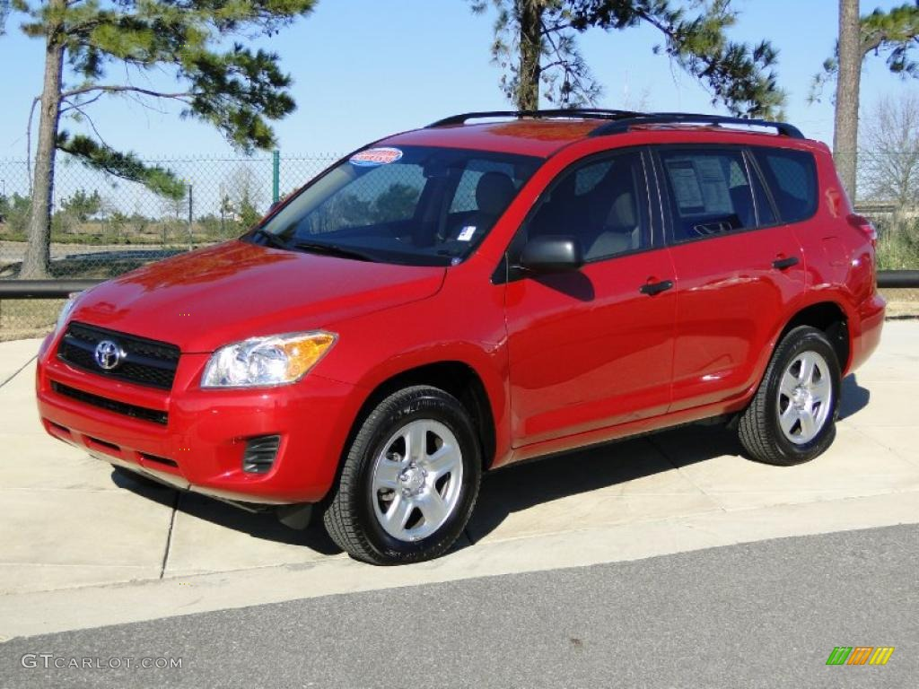 Barcelona Red Metallic 2010 Toyota Rav4 I4 Exterior Photo