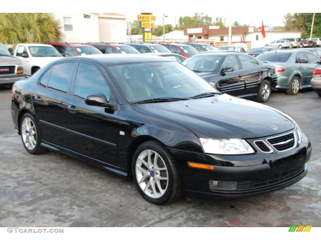 Black 2003 saab 9 3 vector sedan exterior photo 42901745