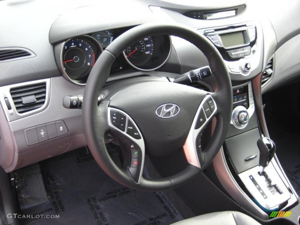 Gray Interior 2011 Hyundai Elantra Limited Photo 42906545
