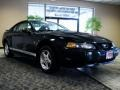 2002 Black Ford Mustang V6 Coupe  photo #1