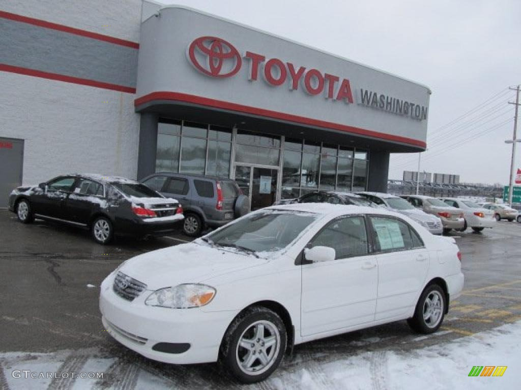 2005 Corolla Le Super White Light Gray Photo 1