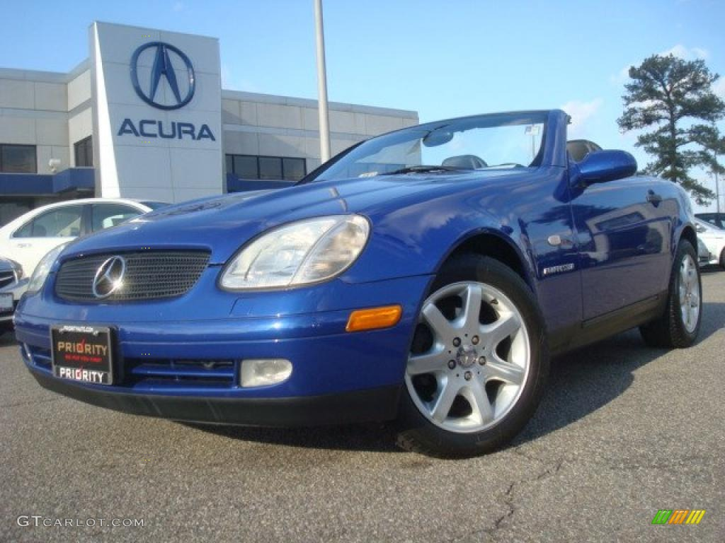 bahama blue metallic 1998 mercedes benz slk 230 kompressor roadster exterior photo 42951211. Black Bedroom Furniture Sets. Home Design Ideas