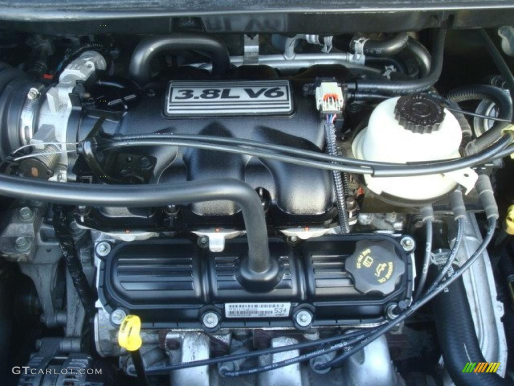 2005 dodge grand caravan sxt 3 8l ohv 12v v6 engine photo. Black Bedroom Furniture Sets. Home Design Ideas