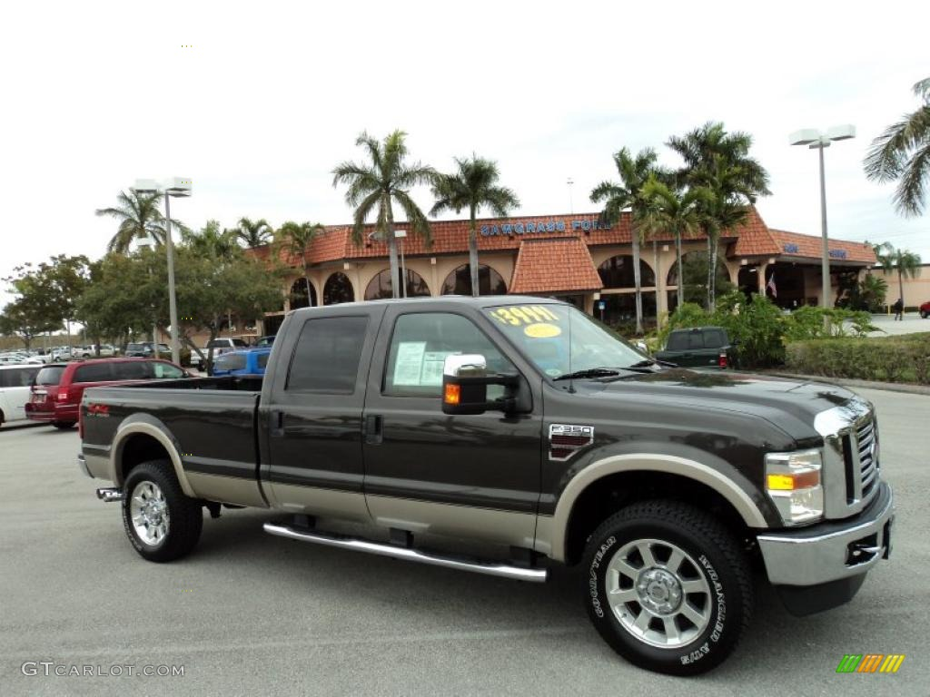 2008 Dark Stone Metallic Ford F350 Super Duty Lariat Crew