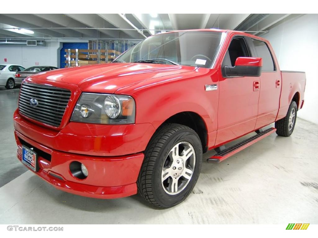 bright red 2007 ford f150 fx2 sport supercrew exterior photo 42989024. Black Bedroom Furniture Sets. Home Design Ideas