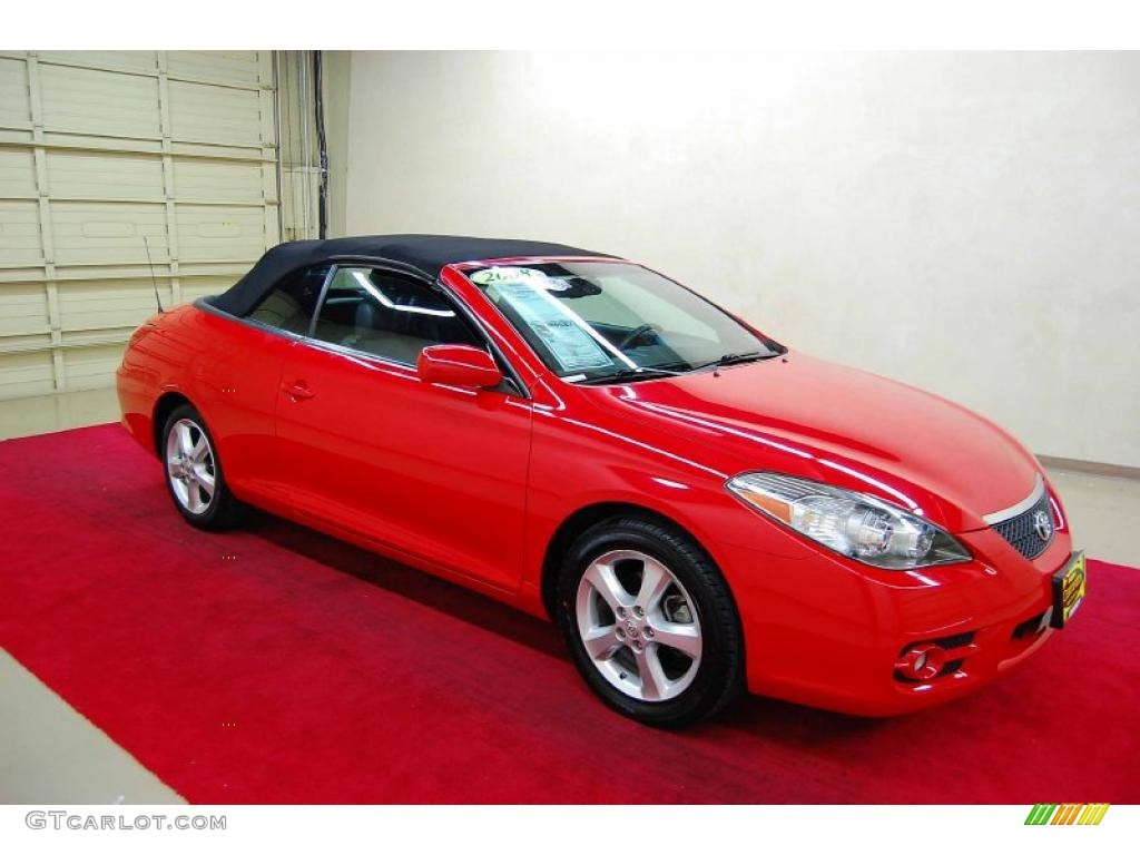 2008 super red 5 toyota solara sle v6 convertible 42990093 car color galleries. Black Bedroom Furniture Sets. Home Design Ideas