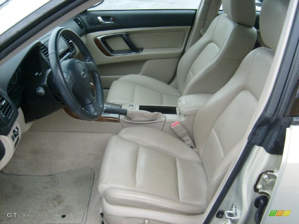 Taupe Leather Interior 2007 Subaru Outback Limited Sedan Photo 43019855