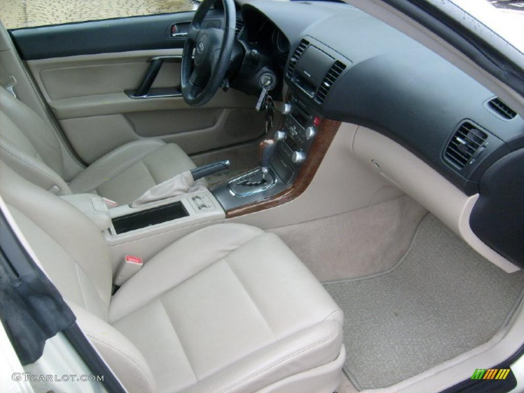 Taupe leather interior 2007 subaru outback limited sedan photo 43019903 for Subaru outback leather interior