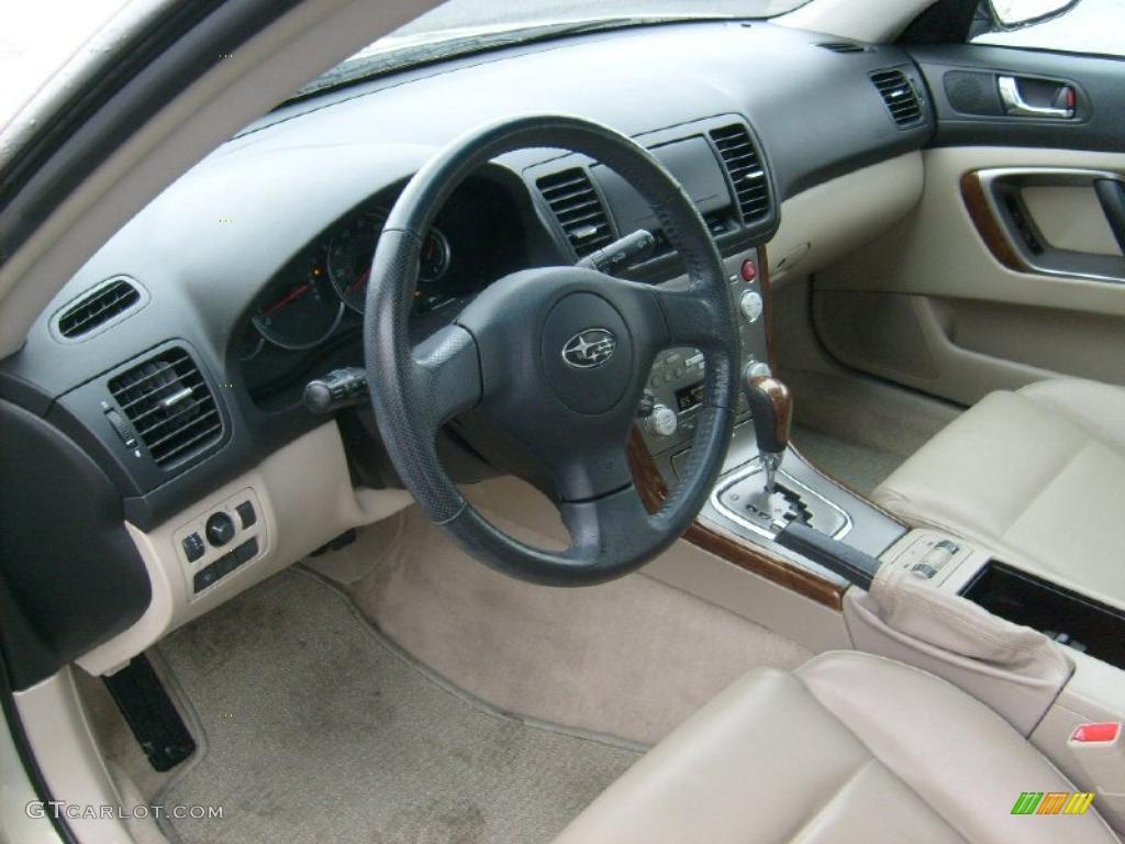 2007 champagne gold opal subaru outback limited sedan 42990765 photo 14 for Subaru outback leather interior