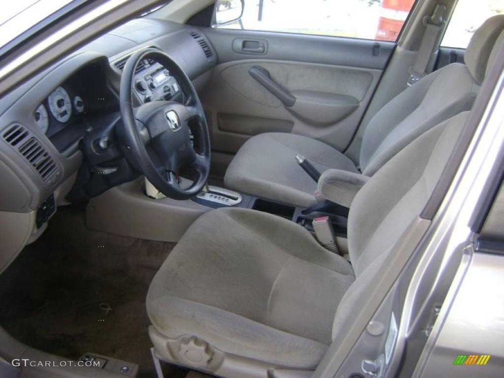 Beige Interior 2001 Honda Civic Ex Sedan Photo 43021063